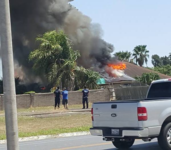 Facebook photo of House Fire in Brownsville