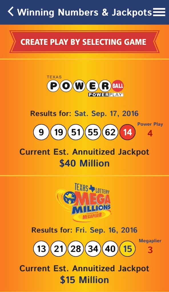 New Mobile App from Texas Lottery