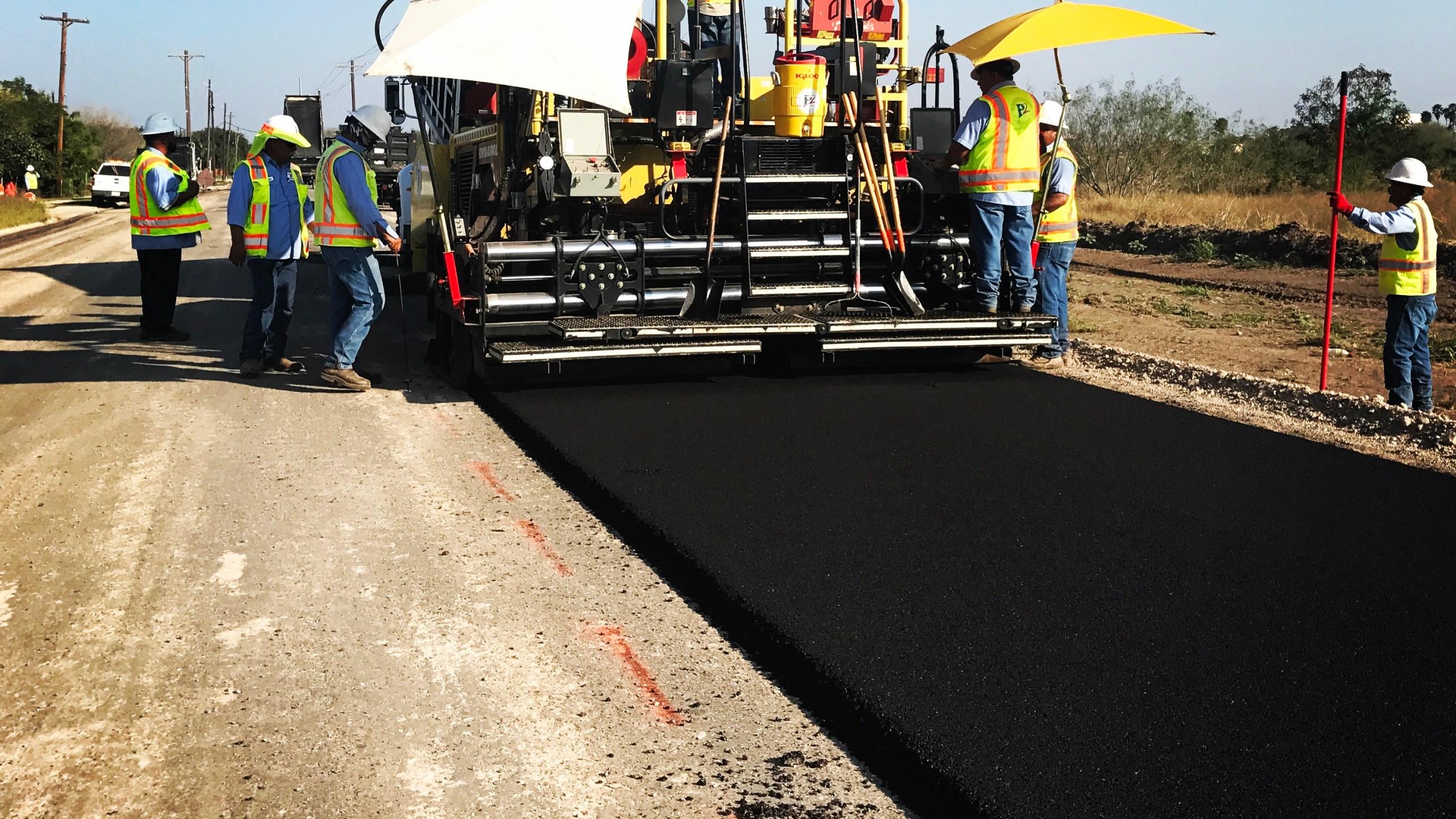 Crews Work on Sgt. Leonel Trevino Road in San Juan_1486669831968.JPG