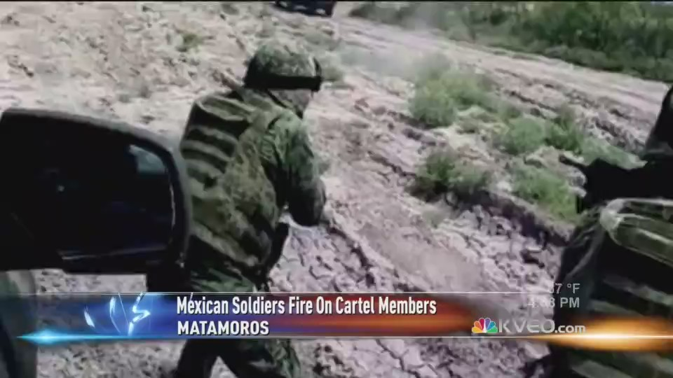 Shootout Between Soldiers and Cartel In Matamoros