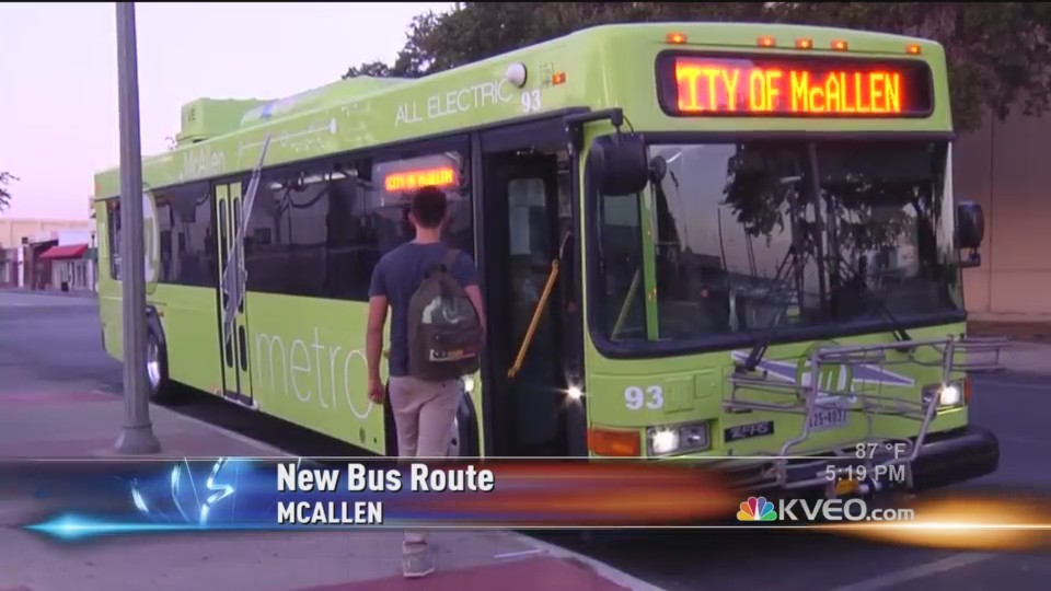 New Bus Route for McAllen Metro