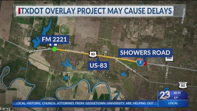 TXDOT Overlay Project May Cause Delays
