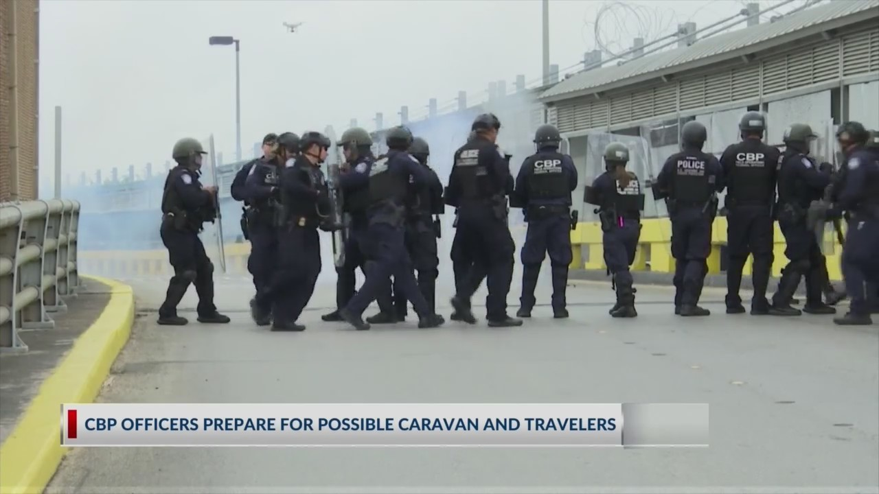 CBP officers prepare for possible migrant caravan and travelers