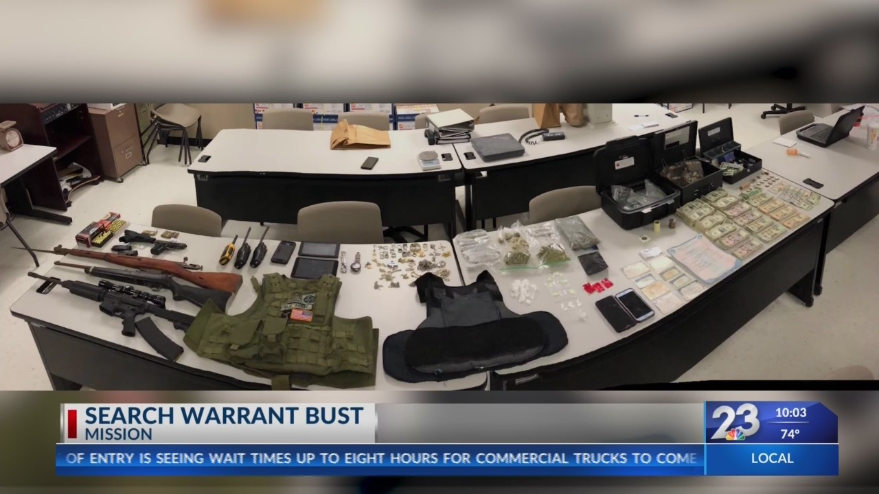 Search warrant bust in Mission