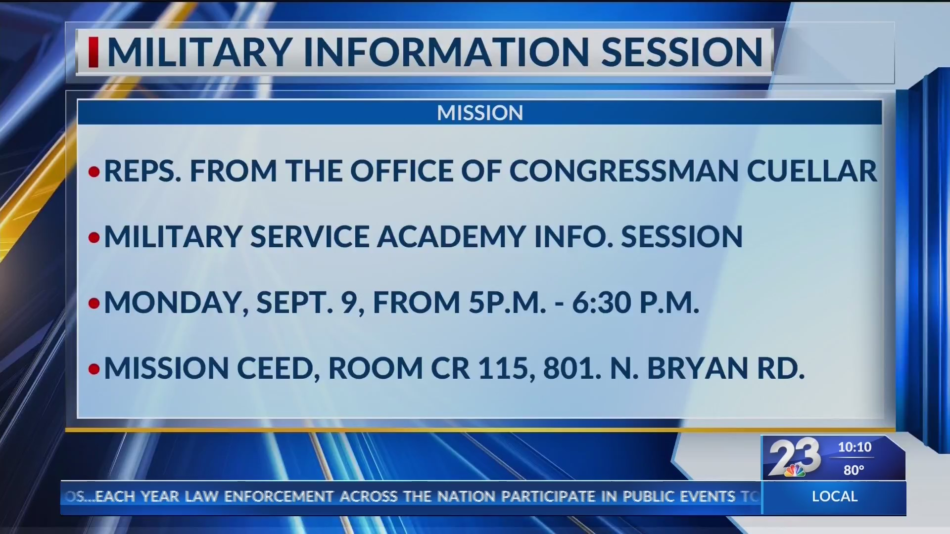 Military information session | KVEO-TV